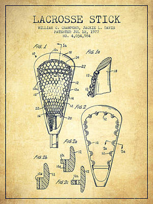 Modern Kitchen - Lacrosse Stick Patent from 1977 -  Vintage by Aged Pixel