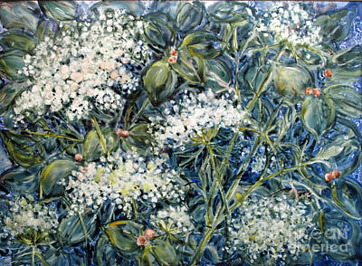 Painting - Lacy Blue by Louise Peardon