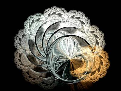 Lacy Fractal Art Print by Lea Wiggins