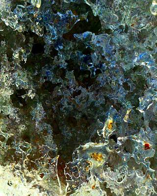 Photograph - Lacy Ice Abstract 2 by Marianne Dow