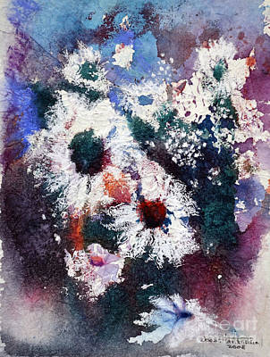 Art Print featuring the painting Lacy Petals by Joan Hartenstein
