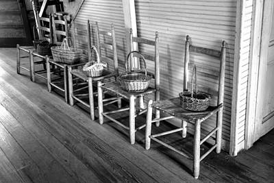Ladder Back Chairs And Baskets Art Print by Lynn Palmer