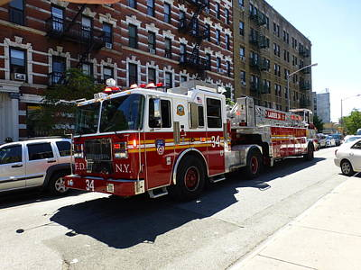 Photograph - Ladder Company 34 Fdny by Steven Spak
