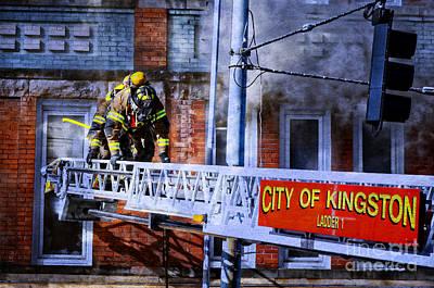 Photograph - Ladder Company by Paul Mashburn