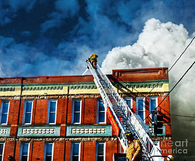 Photograph - Ladder Company Response by Paul Mashburn