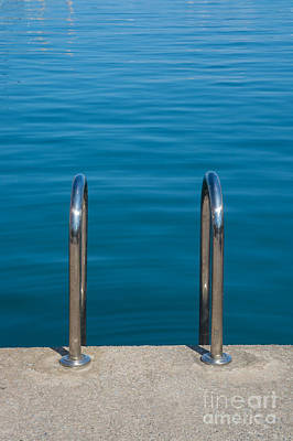 Swim Ladder Photograph - Ladder Into The Sea by Christina Rahm