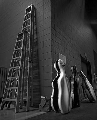 Ladders And Cello Cases Art Print by Adrian Mendoza