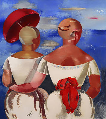 Women Together Painting - Ladies At The Seaside by Mountain Dreams