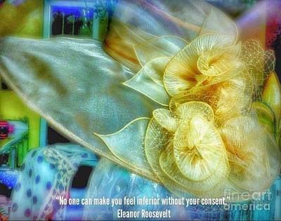 Photograph - Ladies Bonnet Quote  by Susan Garren