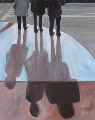 Painting - Ladies In Red Shoes by Nancy Merkle