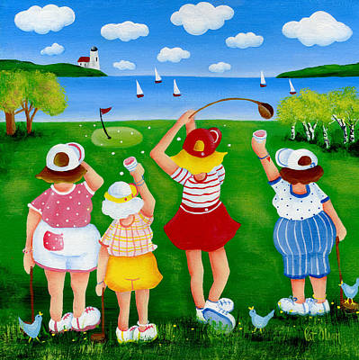 Painting - Ladies League Door County by Pat Olson