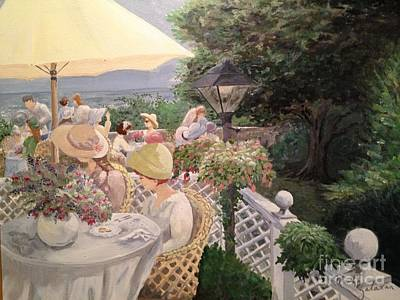 Painting - Ladies Luncheon by Marilyn Zalatan
