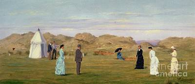 Fun Pastimes Painting - Ladies Match At Westward Ho by Francis Powell Hopkins