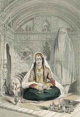 Ladies Of Caubul In Their In Art Print