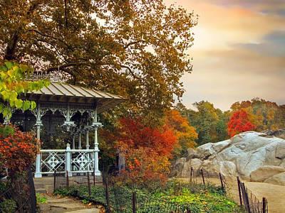 New York Digital Art - Ladies Pavilion In Autumn by Jessica Jenney