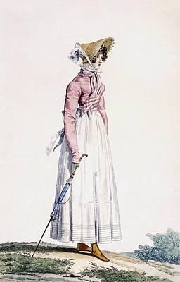 Summer Dress Drawing - Ladies Summer Dress by Antoine Charles Horace Vernet