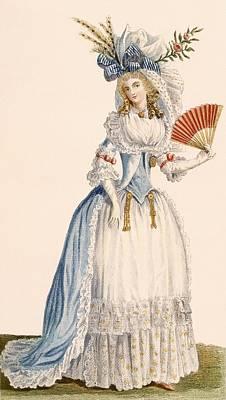 Ladies Turkish Style Evening Dress Print by Claude Louis Desrais