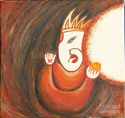 Ladoo Ganesha Art Print