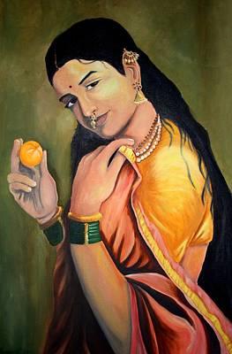 Bangles Painting - Lady by Aditya Singh