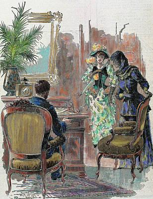 Lady And Gentleman Art Print