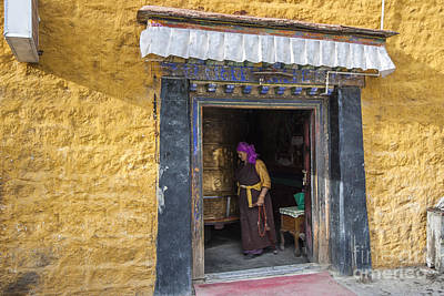 Photograph - Lady And Prayer Wheel  by Hitendra SINKAR