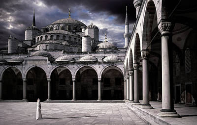 Istanbul Photograph - Lady And The Mosque by Daniel Murphy