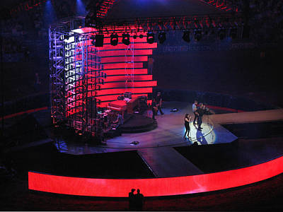 Photograph - Lady Antebellum In Concert - Rodeo Houston 2011 by Connie Fox