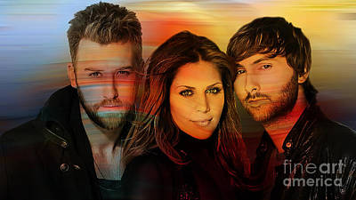 Lady Mixed Media - Lady Antebellum by Marvin Blaine