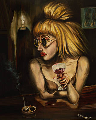 Lady At The Bar Art Print