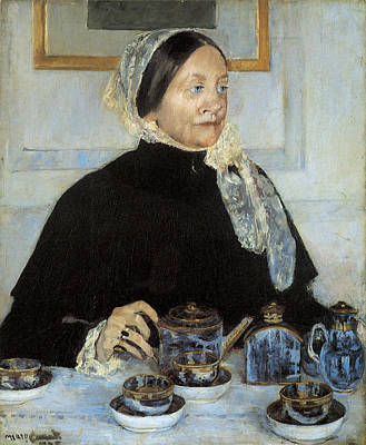 Tea Time Painting - Lady At The Tea Table by Mary Cassatt