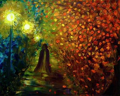 Night Out Mixed Media - Lady Autumn by Lilia D