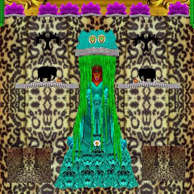 Popart Mixed Media - Lady Bear In The Jungle by Pepita Selles