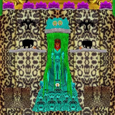 Lady Bear In The Jungle Art Print