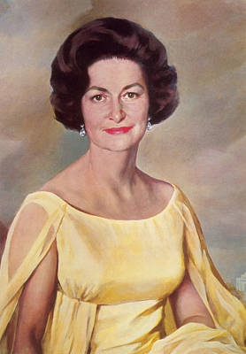Alta Painting - Lady Bird Johnson, First Lady by Science Source