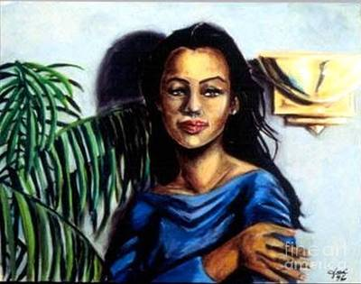 Painting - Lady Blue by Jose Breaux