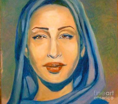Painting - Lady Blue Sade by Jose Breaux