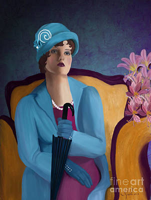 Top Model Painting - Lady Blue by Sydne Archambault