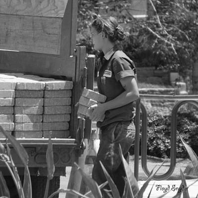 Target Project 62 Abstract - Lady Bricklayer by Floyd Snyder
