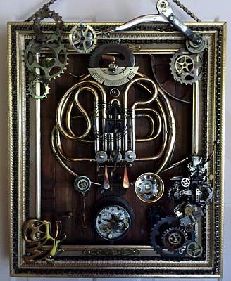 Cogs Mixed Media - Lady Bug by Giuliano Marchetti