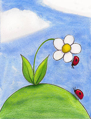 Lady Bug Painting - Lady Bug Love by Christy Beckwith