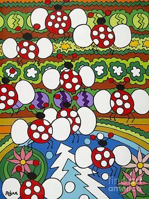 Lady Bugs Art Print by Rojax Art