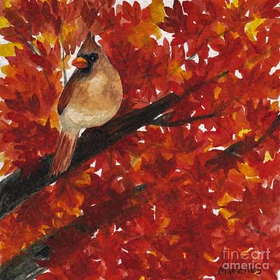 Painting - Lady Cardinal by Michelle Welles