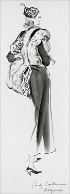 Looking At Camera Digital Art - Lady Castlerosse Wearing Molyneux by Ren? Bou?t-Willaumez