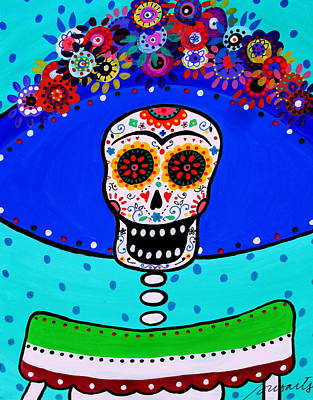 Painting - Lady Catrina Y Frida by Pristine Cartera Turkus