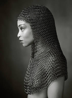 Nude Portraits Photograph - Lady Chainmail by Ross Oscar