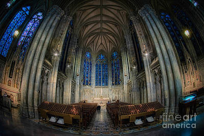 Lady Chapel At St Patrick's Catheral Art Print by Jerry Fornarotto