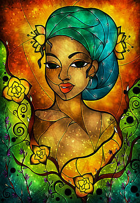 Digital Art - Lady Creole by Mandie Manzano