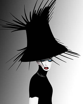 Black Lady Digital Art - Lady D 4 by Mark Ashkenazi