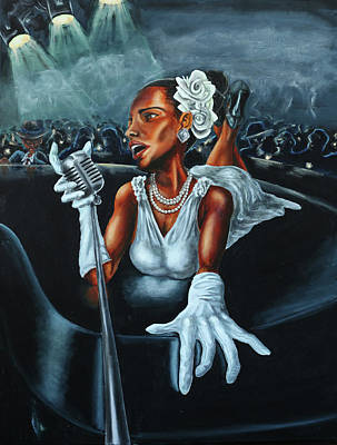 Billie Holiday Painting - Lady Day by Joel Gwidt