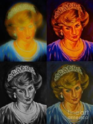 Lady Diana Art Print by John Malone